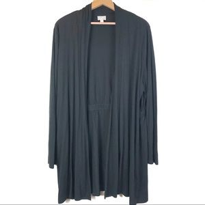J. Jill Wearever Black Two Pocket Cardigan XL